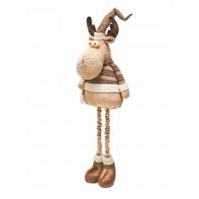 Gold Xmas Babbo gambe allungabili h. 120 cm