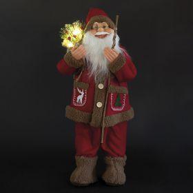 XMas Babbo Natale, rosso 15 led h.80 cm