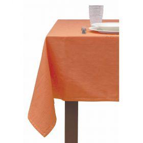 Tovaglia 12 posti tavola arancio 140x240 cm