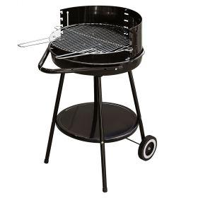 Barbecue tondo con ruote, nero