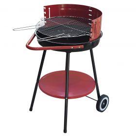 Barbecue griglia in acciaio inox e ruote