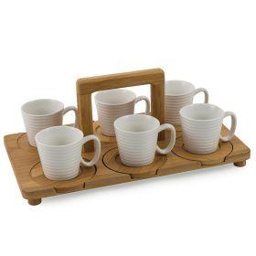 Essential Set 6 tazzine caffè con vassoio 90 ml