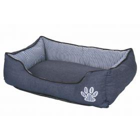 Cuccia letto per cani in jeans 75x58x15 cm