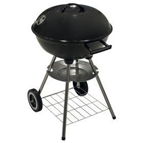 Barbecue tondo con coperchio e 2 ruote