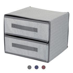Organizer 2 cassetti 30x30x25 cm