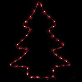 Insegna albero a batteria 40 microled rosso