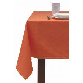 Tovaglia 8 posti tavola arancio 140x180 cm