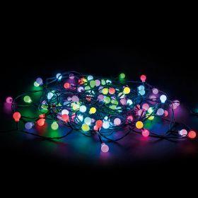 Filo 100 sfere led, multicolor 12 m