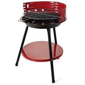 Barbecue tondo rosso Ø36xh.55 cm