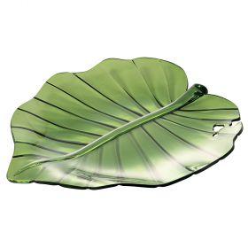 Insalatiera Piattino foglia verde l.28 cm