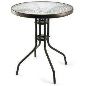 Tavolo tondo in metallo