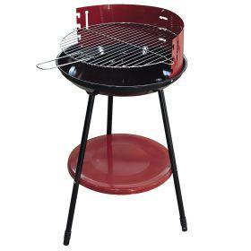 Barbecue tondo rosso Ø42xh.77 cm