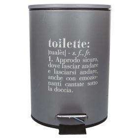 Victionary Pattumiera Toilette, grigio  3l