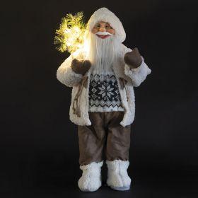 XMas Babbo Natale, bianco 15 led h.80 cm