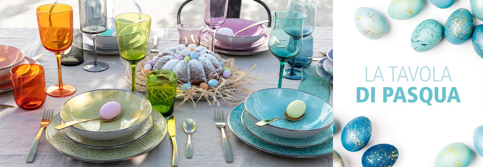 Tavola Pasqua piatti